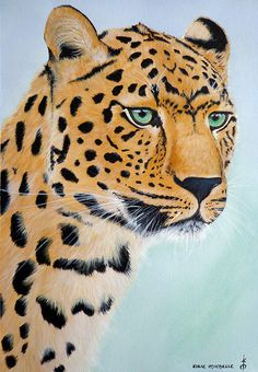 My painting of a Leopard. Acrylic on fredrix watercolour canvas.