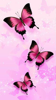Butterfly Rose Flower Wallpaper, Butterfly Wallpaper Iphone, Fairy Wallpaper, Pink Wallpaper, Cellphone Wallpaper, Disney Wallpaper, Abstract Backgrounds, Wallpaper Backgrounds, Phone Wallpapers