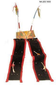 Remnant of a Dance Bustle, Lakota Танцевальный бастл, Лакота. 1920 год.