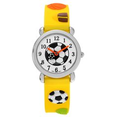 Geneva Platinum Kid's Soccer Ball Watch