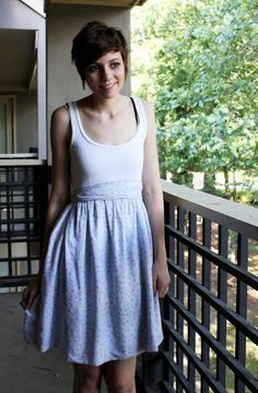 How to Make an Easy Dress (For Cheap!): 8 Steps (with Pictures) T Shirt Sewing Pattern, Dress Sewing Patterns, Sewing Paterns, Simple Dresses, Cute Dresses, Easy Dress, Grad Dresses, Sewing Clothes, Diy Clothes