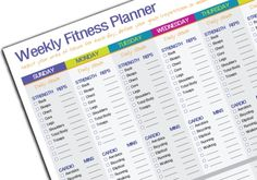 Free Download: Weekly Fitness Goal Tracker — Serendipity Studios.