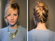 Lovely Braids with Long Side Swept Bangs 2015