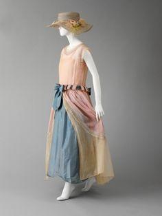 ca 1922 Jeanne Lanvin robe de style. The Costume Institute of the Metropolitan Museum.