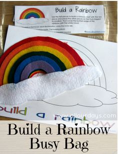 Free Build-A-Rainbow Busy Bag printables