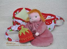 Fretta: And another Waldorf Bunting Doll & a Doll Bed