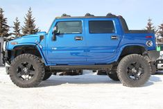 2006 H2 Hummer - Pacific Blue  -Limited Supercharged with a 6in Rancho Lift on Rockstar Wheels
