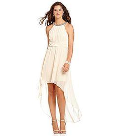 B Darlin Twisted Waist HiLow Dress #Dillards