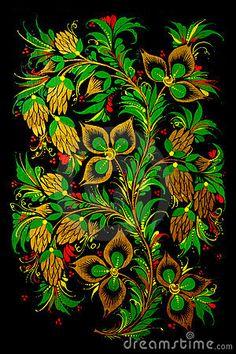 Russian folk art by Svetlana Tikhonova, via Dreamstime