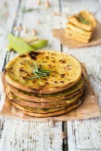 Pancakes+salati+di+ceci+e+mela+al+profumo+di+rosmarino