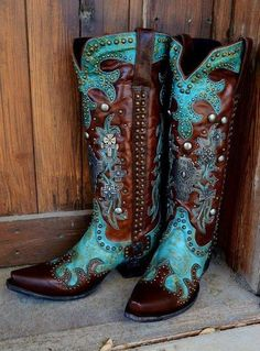 DOUBLE D RANCHWEAR AMMUNITION BOOTS TURQUOISE @ LEGENDARY WESTERN
