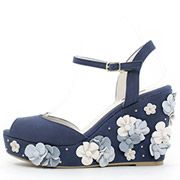Flower Wedge Sandals /PS3539/RANDA