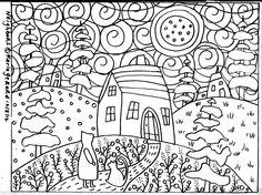 Rug Hook Paper Pattern Neighbors FOLK ART ABSTRACT MODERN UNIQUE Karla Gerard