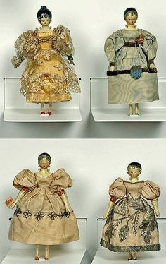 Queen Victoria's childhood dolls that she dressed with the help of her governess Baroness Louise Lehzen~Image © Royal Collection Trust