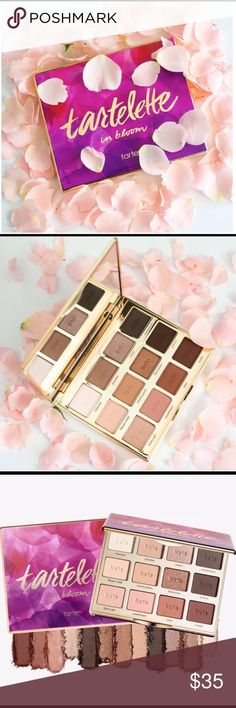 NWT Tartelette in Bloom Brand new in the box. Tartelette in Bloom palette by Tarte. My all time favorite palette!!   Check out my page for more Tarte and other name brand makeup! :) tarte Makeup Eyeshadow