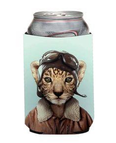 Hipster Cat Koozie