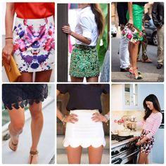 Mini Skirts.