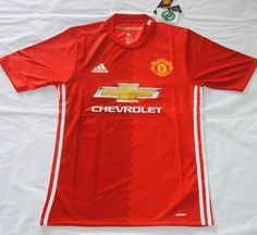 2016-17 Man Utd Home Red Thaiand Short Sleeves Soccer Jersey