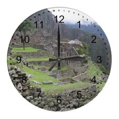 Machu Picchu Wall Clocks