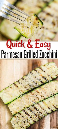 Parmesan Grilled Zucchini Recipe is a must try side dish that even the kids will love. It is so simple to prepare, inexpensive and healthy. #grilledzucchini