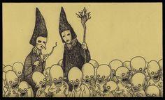 John Kenn Mortensen: desenhos assustadores feitos em post-it