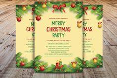 Christmas Invitation Template by Madhabi Studio on @creativemarket