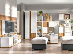 Ponadczasowe połączenie bieli z ciepłym kolorem drewna. Divider, Furniture, Home Decor, Decoration Home, Room Decor, Home Furnishings, Home Interior Design, Room Screen, Home Decoration
