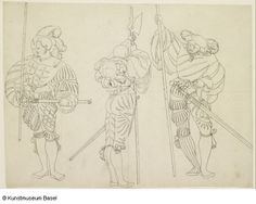 """Drei Knechte"" (Three mercenaries, swiss), Niklaus Manuel gen. Deutsch (Kopie / copy) Bern um 1484–1530"