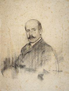 Portrait of Ignacio Zuloaga by Ramon Casas