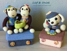 Leuke, decoratieve doosjes om kado te geven, leuk voor op de kinderkamer! Zie www.facebook.com/liefenuniek.