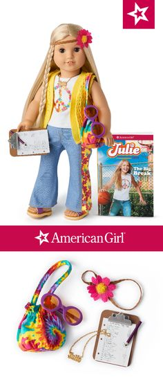 PARTY FAVOR~STOCKING AMERICAN GIRL JULIE PUFFY~BUBBLE STICKER SUMMER OUTFIT