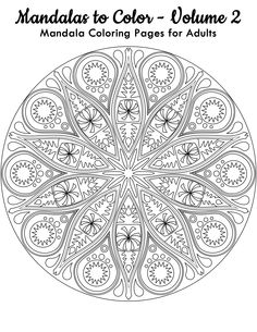 Have this FREE Mandala Coloring Image from Mandalas to Color - Volume 2. Click here for 49 more mandalas you can color: http://www.amazon.com/Mandalas-Color-Mandala-Coloring-Adults/dp/1495387631 Copyright © 2014 IRONPOWER PUBLISHING