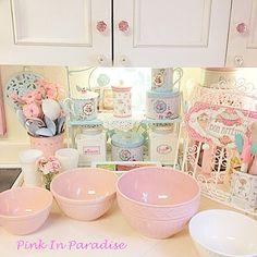 My Pink Kitchen Cozinha Shabby Chic Vintage Decor