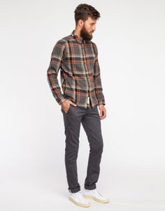 Maxi Check Herringbone Shirt