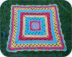 Ik CROCHETO OOK ...: Gekleurde tapijt plein Well