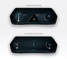 Car UI concept - Self driving car