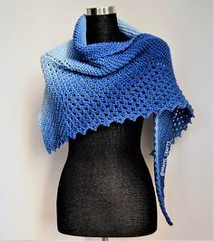 Knitted Cape, Knitted Shawls, Crochet Shawl, Circular Knitting Needles, Lace Knitting, Free Knit Shawl Patterns, Scarf Patterns, Free Pattern, Ombre Yarn