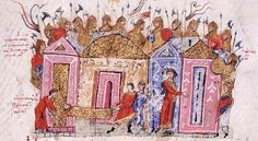 BELLUMARTIS HISTORIA MILITAR: LA GUARDIA VAREGA. El origen.  Guardia varega. Ilustración de la crónica de Juan Skylitzes, Skylitzes Matritensis.