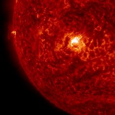 The sun emitted a significant solar flare on March 11, 2015. The flare is classified as an X2.2-class flare. X-class denotes the most intense flares, while the number provides more information about its strength. An X2 is twice as intense as an X1, an X3 is three times as intense, etc. The imagery was captured by NASA's Solar Dynamics Observatory in extreme ultraviolet light.