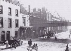 Westland Row, view of what is now the entrance to Pearce Street Train Station Dublin Map, Dublin City, Dublin Ireland, Ireland Pictures, Old Pictures, Old Photos, Vintage Photos, Gone Days, Dublin Street