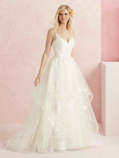 soft strap lovely floral lace horsehair detail on the skirt and a sweet A-line shape BL 219 fun flirty wedding dress in Salt Lake Sweet Wedding Dresses, Wedding Dress Pictures, Wedding Dress Styles, Bridal Gowns, Wedding Gowns, Lace Wedding, Church Wedding, Dream Wedding, Boyfriends