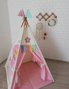 Teepee Tutorial, Childrens Play Tents, Teepee Kids, Multiplication For Kids, Child Life, Cute Pins, Create Space, Floor Mats, Kids Playing