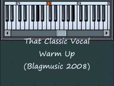 Classic Vocal Warm Up Exercise. Singing Warm Ups, Vocal Warm Up Exercises, Diaphragmatic Breathing, Vocal Lessons, Workout Warm Up, Breathing Techniques, Singer, Classic, Music