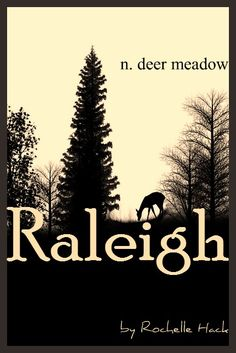 Baby Boy Name: Raleigh (RAH-lee). Meaning: Deer Meadow. Origin: Old English. https://www.pinterest.com/vintagedaydream/baby-names/