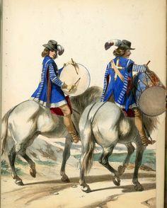 Tambours à cheval des Mousquetaires du Roi Louis XIII
