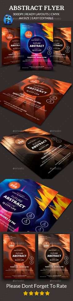 Abstract Flyer Template PSD #design Download: http://graphicriver.net/item/abstract-flyer-templates/14399456?ref=ksioks
