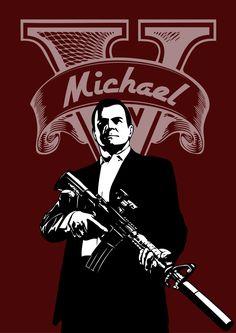 GTA 5 Michael poster