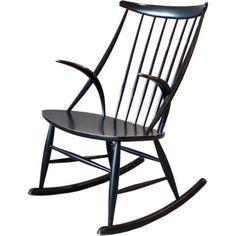 Illum Wikkelso, Rocking Chair, 1958