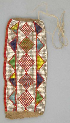 Africa | Beaded anklet from the Kamba people of Kenya | ca. 20th century | Fiber and glass beads.