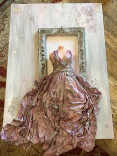 Vase Crafts, Textiles, Craft Gifts, Mixed Media Art, Artsy Fartsy, Home Deco, Decoupage, Ball Gowns, Creations